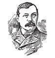 sir arthur conan doyle vintage vector image vector image