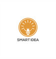 smart idea lamp logo vector image vector image