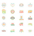 spring - easter is a beautiful badge set like a vector image vector image
