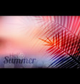 summer greeting card with blurred background and vector image vector image
