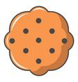 swedish food icon cartoon style vector image