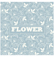 thai design flower blue background pattern vector image