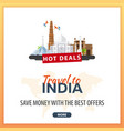travel to india travel template banners for vector image vector image