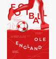 typographic england winner football poster vector image vector image