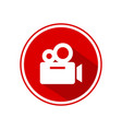 video camera icon for web and mobile vector image