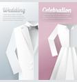 wedding ceremony invitation card paper cut vector image vector image