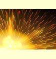 yellow star lighted exploding background vector image