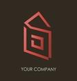 Business logo simple house geometric icon design vector image