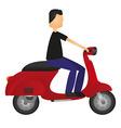 man on motorbike vector image