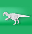 paper art of indominous rex dinosour on green vector image