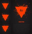 4 grunge backrounds vector image