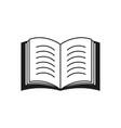 a book icon or a e-book read text vector image vector image
