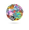 abstract ball triangles vector image