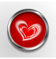 Abstract button with love symbol vector image vector image