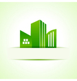 Abstract eco real estate design vector image vector image