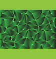abstract green glossy polygon pattern vector image vector image