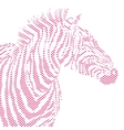 Animal of red zebra striped vector image vector image