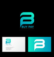 b and p letters monogram payment system vector image vector image