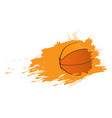 basketball ball ico with an effect vector image vector image