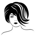 beautiful fashionable lady vector image vector image