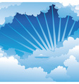Blue Sky with Clouds3 vector image vector image