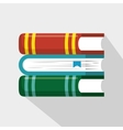 books library isolated icon vector image vector image