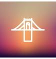 Bridge thin line icon vector image vector image
