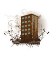 brown building vector image