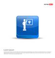 businessman victory graph icon - 3d blue button vector image