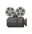 camera for making movies camcorder with bobbins vector image