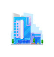 city mall real estate building vector image vector image