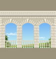 classic arch of the palace vector image vector image