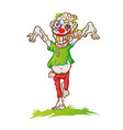 clown zombie mascot cartoon isolated on white vector image vector image