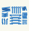 collection ribbon signs vector image