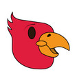 color image cartoon eagle head mascot vector image vector image
