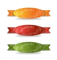 Color ribbon set vector image vector image