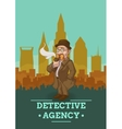 Detective Agency Poster vector image vector image