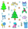 Doodle of christmas cute object vector image