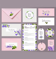 florals wedding cards invited placards floral vector image