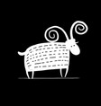 funny goat simple sketch for your design vector image vector image