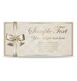 gift card certificate coupon invitation vector image