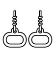 gymnastics rings icon outline style vector image vector image