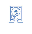 hdd storage line icon concept hdd storage flat vector image vector image