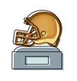 helmet trophy design vector image vector image