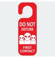 hotel tag do not disturb with first contact vector image
