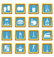 house cleaning icons azure vector image vector image