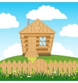 House on hill vector image