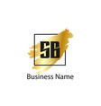 initial letter sb logo template design vector image