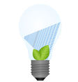 Lamp and solar battery vector image