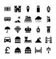 london landmarks glyph vector image